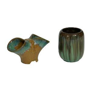 Fulper Pottery Co. group of two