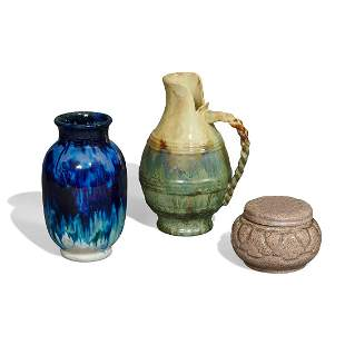 Fulper Pottery Co. group of three