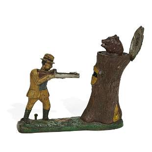 J. & E. Stevens Co. Teddy and The Bear mech. bank