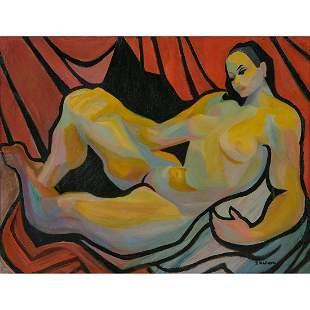 Dorothy Kohlhepp, Reclining Nude, oil on canvas