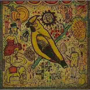 Tony Fitzpatrick, The Conjured Bird, 1993