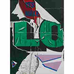 Burhan Dogançay, Yes Make Love, color lithograph