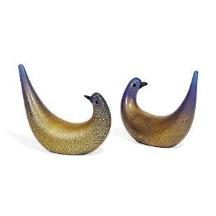 Martens for Vetreria Aureliano Toso, golden doves