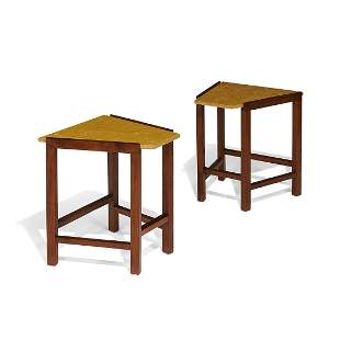 Edward Wormley for Dunbar, wedge tables, pair