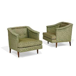 Edward Wormley for Dunbar, lounge chairs, pair