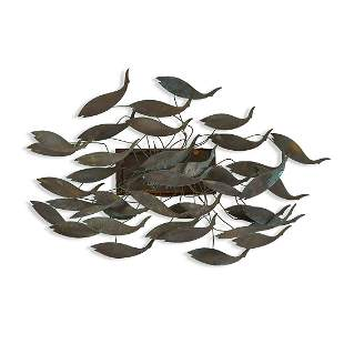 Maker Unknown, school of fish wall sculpture