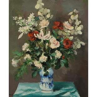 Marcel Dyf, Floral Still Life, oil on canvas