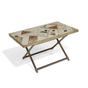 Maker Unknown mosaic terrazzo coffee table