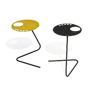 French Modern side tables, pair