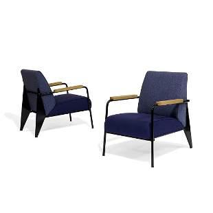 Prouv� for Vitra Fauteuil de Salon lounge chairs