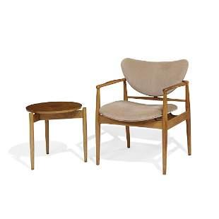 Finn Juhl for Baker armchair and side table