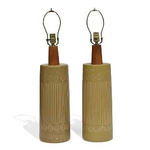 Gordon & Jane Martz, Marshall Studios table lamps