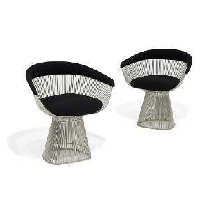 Platner for Knoll Platner Collection armchairs