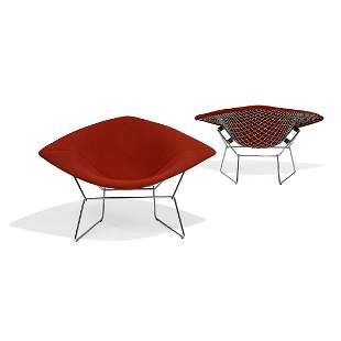 Harry Bertoia for Knoll wide Diamond chairs