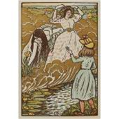 Lucien Pissarro, In the Field, color woodcut