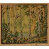 Gustave Baumann, Mountain Pool, color woodcut