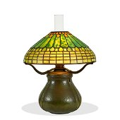 Tiffany Studios / Grueby Faience table lamp