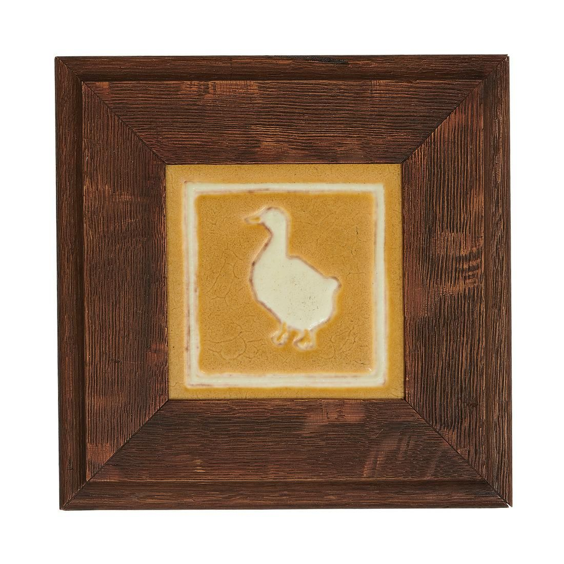 Grueby / The C. Pardee Works tile with a duck