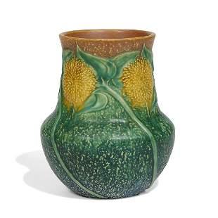 Roseville Pottery Co. Sunflower vase