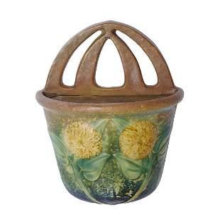 Roseville Pottery Co. Sunflower wall pocket