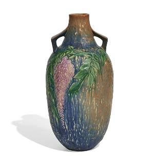 Roseville Pottery Co. Wisteria vase, shape 641-15