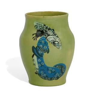 Weller Pottery Co. Japanese Birdimal vase