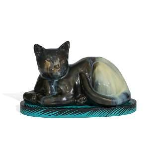 Fulper Pottery Co. Chinese Sleeping Cat doorstop