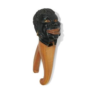 Folk Art Black-Americana figural nutcracker