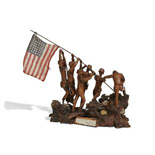 American, WWII Era figural group of Marines