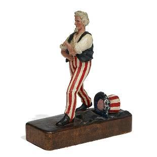 American Folk Art, WWII Era figure of Uncle Sam