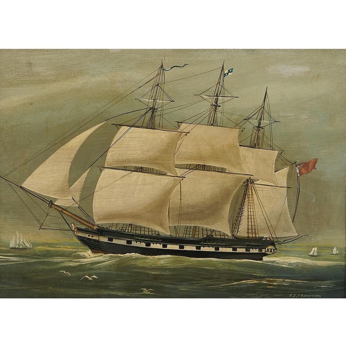 F.J. Tranton, A Clipper Ship