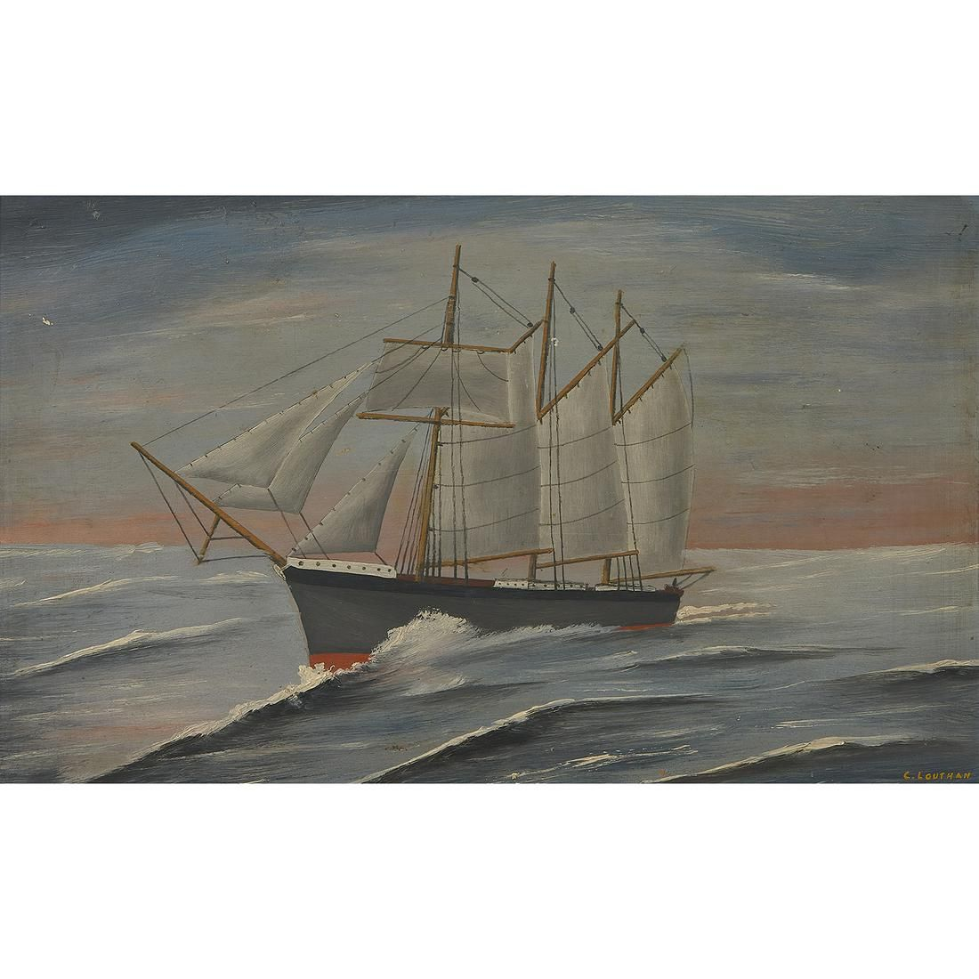 Artist Unknown, Clipper Ships (two works)