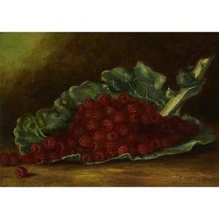 A.B. Crockell, Still Life including Raspberries