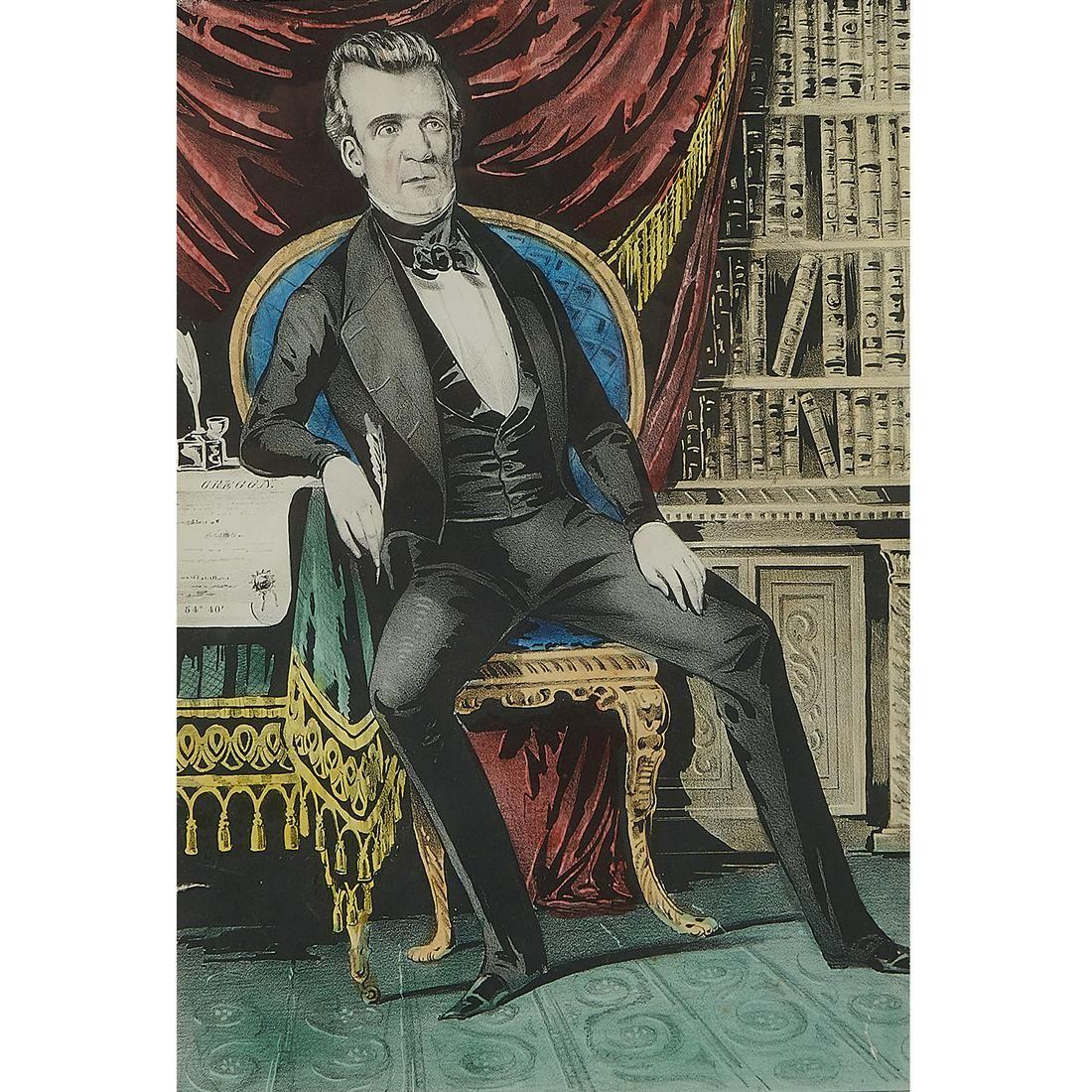Sarony & Major, James K. Polk. Freedom's Champion
