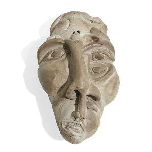 Surreal Grotesque Multiple Faced Sculpture, 1940s
