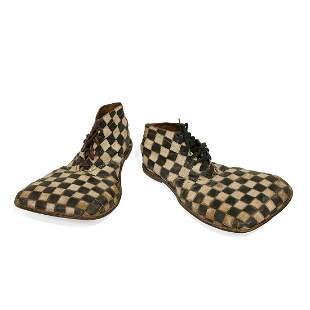 Circus Paraphernalia checkered clown shoes