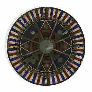 Folk Art electrified carnival gaming wheel