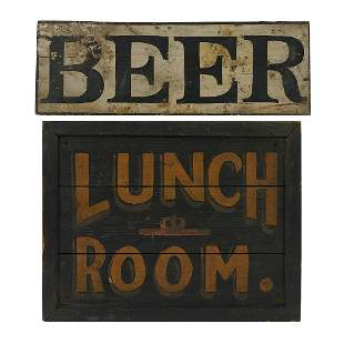 American Folk Art / Trade Displays vintage signs