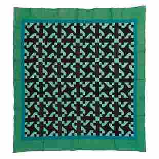 """American Monkey Wrench quilt 86"""" x 93"""""""