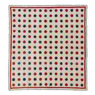 """American Eight-Pointed Star quilt 71 1/2"""" x 77"""""""