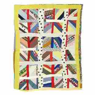"""Artist Unknown pieced quilt 85"""" x 66"""""""