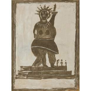 Jimmy Lee Sudduth, Statue of Liberty, 1991