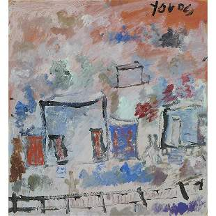 Purvis Young, House near Railroad Tracks, 1997