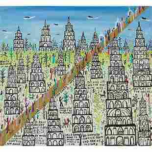 Howard Finster, Castles of the Angels, 1987