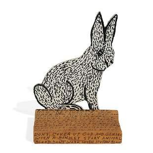 Howard Finster, Rabbit, 1988