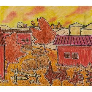 George Colin, Autumn Farm Landscape, 2008