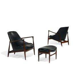Ib Kofod-Larsen Elizabeth rosewood lounge chairs