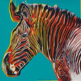 Andy Warhol, Grevy's Zebra, Endangered Species
