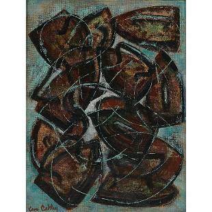 Cano Oakley, Modernist Abstraction (Irons), 1957