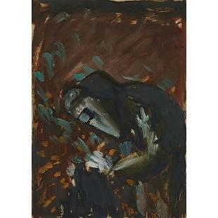 Schomer Lichtner, The Welder, oil on paper